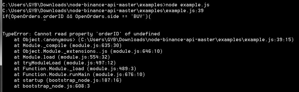 JavaScript - Binance API anwenden, programmieren
