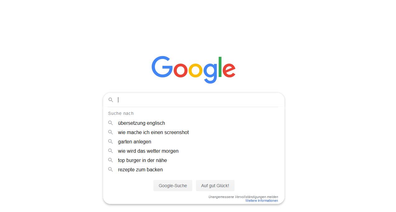 Google Suchvorschläge Deaktivieren