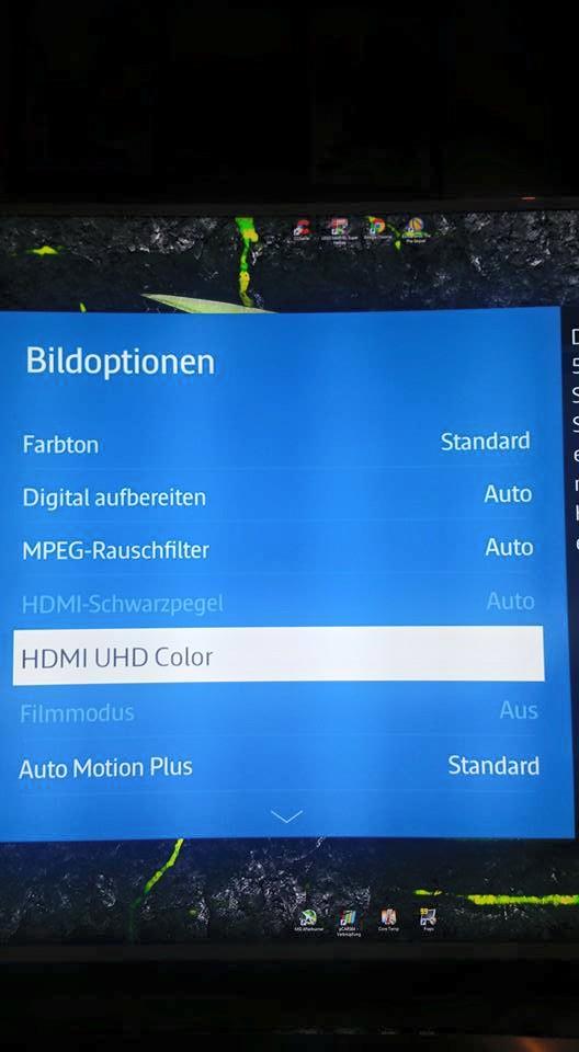 Samsung UE55JU6580 Blurayplayer angeschlossen UHD Einstellung