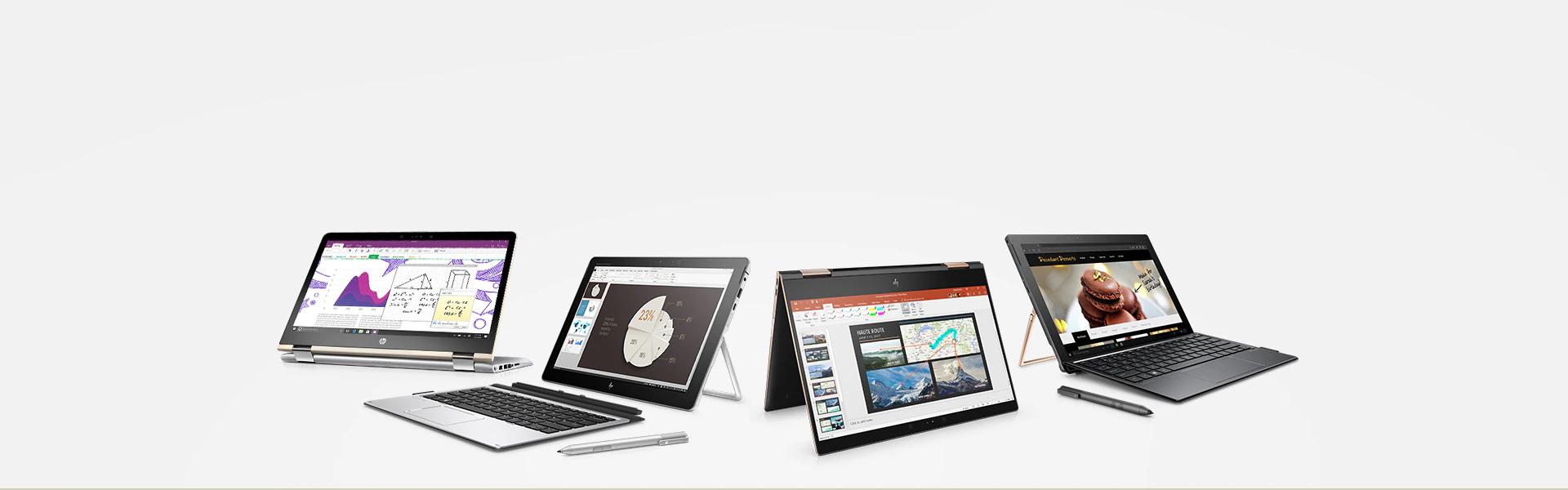 Produktbild von HP, dass sowohl Detachable als auch Folder zeigt