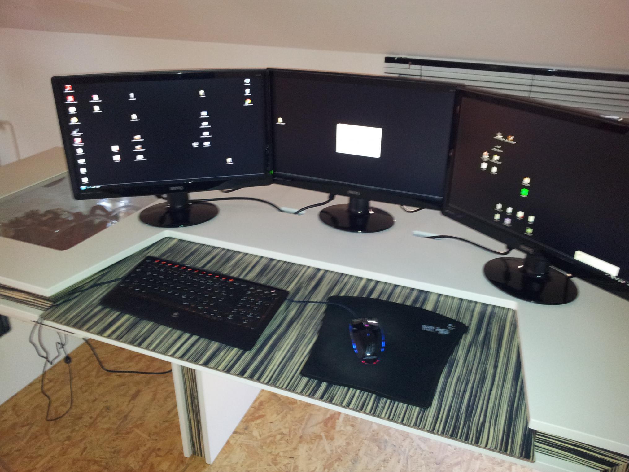 Computertisch groß  Selbst Gebauter Computer Tisch (PC im Tisch) - Seite 3 ...
