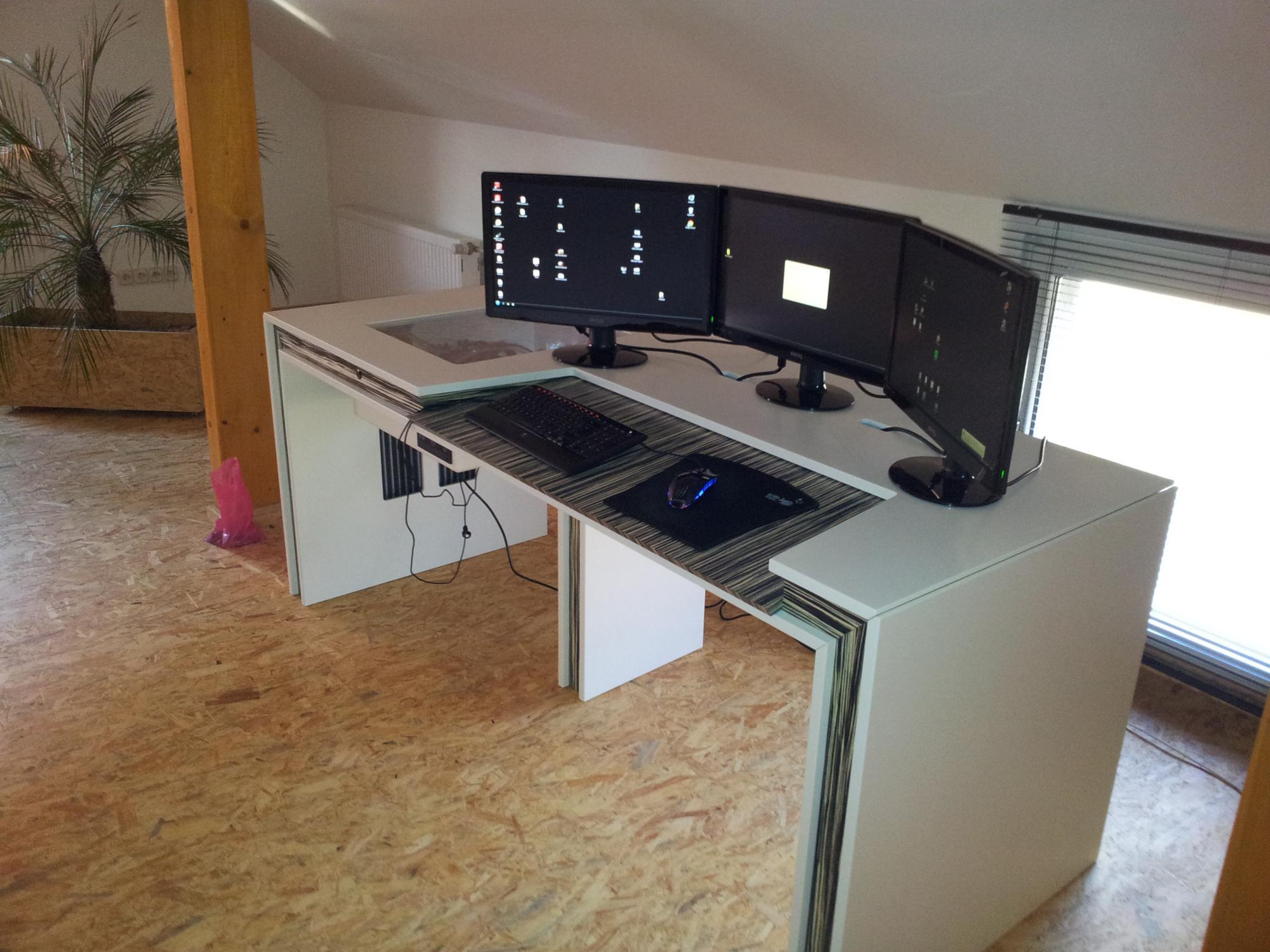 Computertisch gamer  Selbst Gebauter Computer Tisch (PC im Tisch) - Seite 3 ...