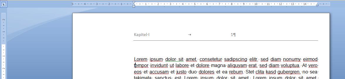 word kopfzeile dissertation