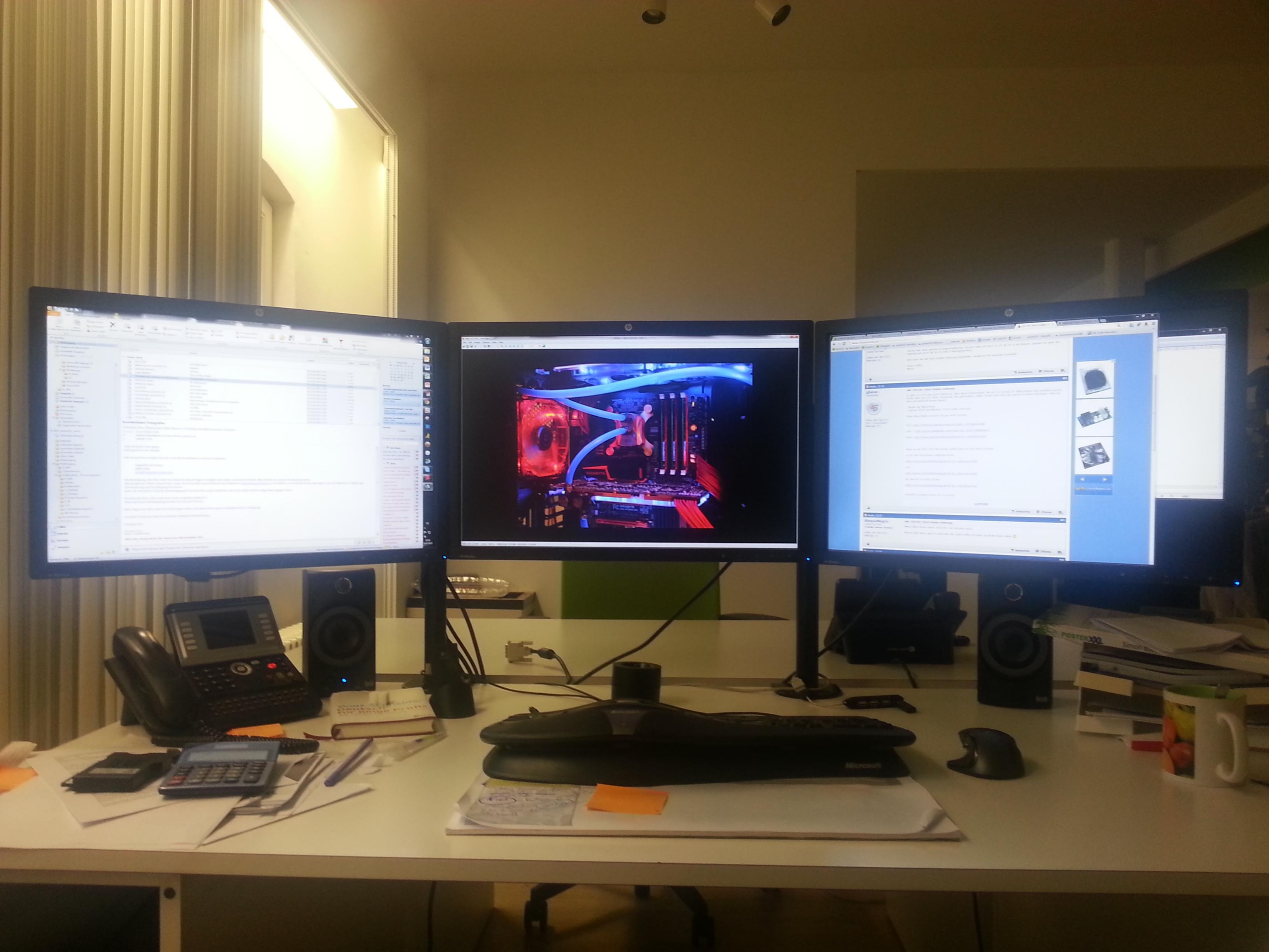 Suche 3fach Display Halterung Computerbase Forum