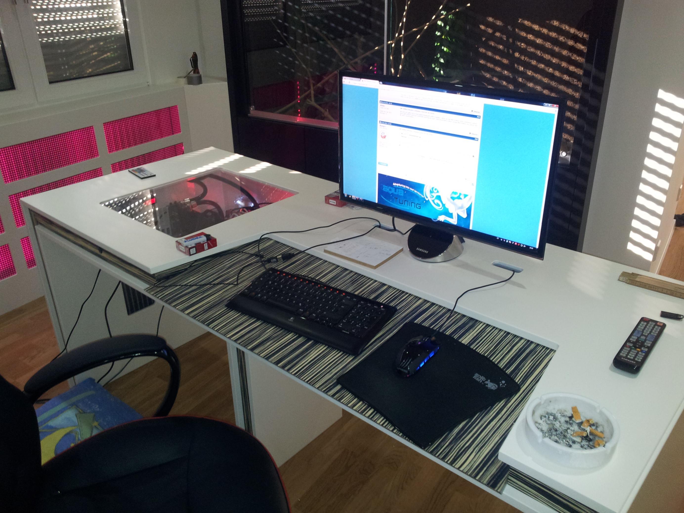 Computertisch gamer  Selbst Gebauter Computer Tisch (PC im Tisch) - Seite 4 ...