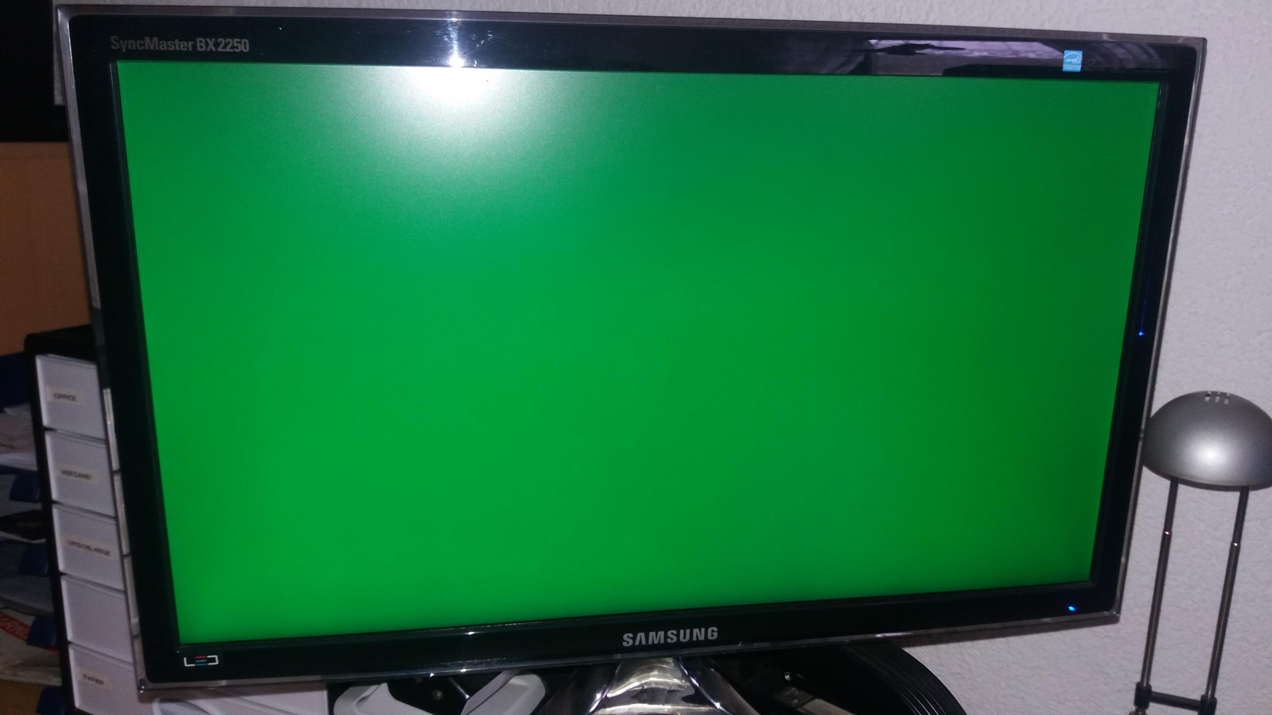 Green Screen?Was ist da los?   ComputerBase Forum