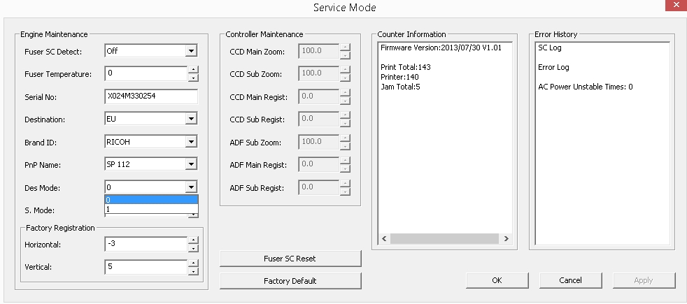 Ricoh SP 112 Laserdrucker Seitenzähler deaktivieren   ComputerBase Forum