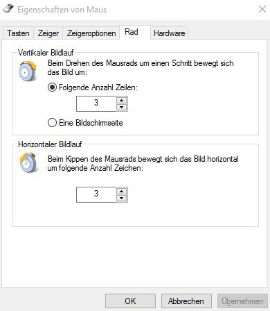 Windows 10 Smooth scroll deaktivieren? | ComputerBase Forum
