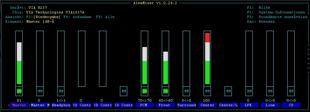 Klicke auf die Grafik für eine größere Ansicht  Name:Alsamixer.PNG Hits:1874 Größe:24,1 KB ID:324259