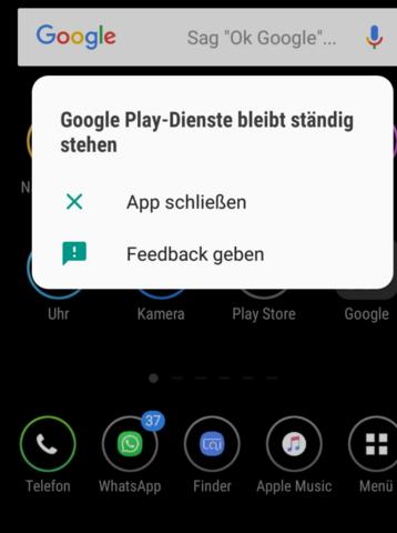Google Bleibt Ständig Stehen