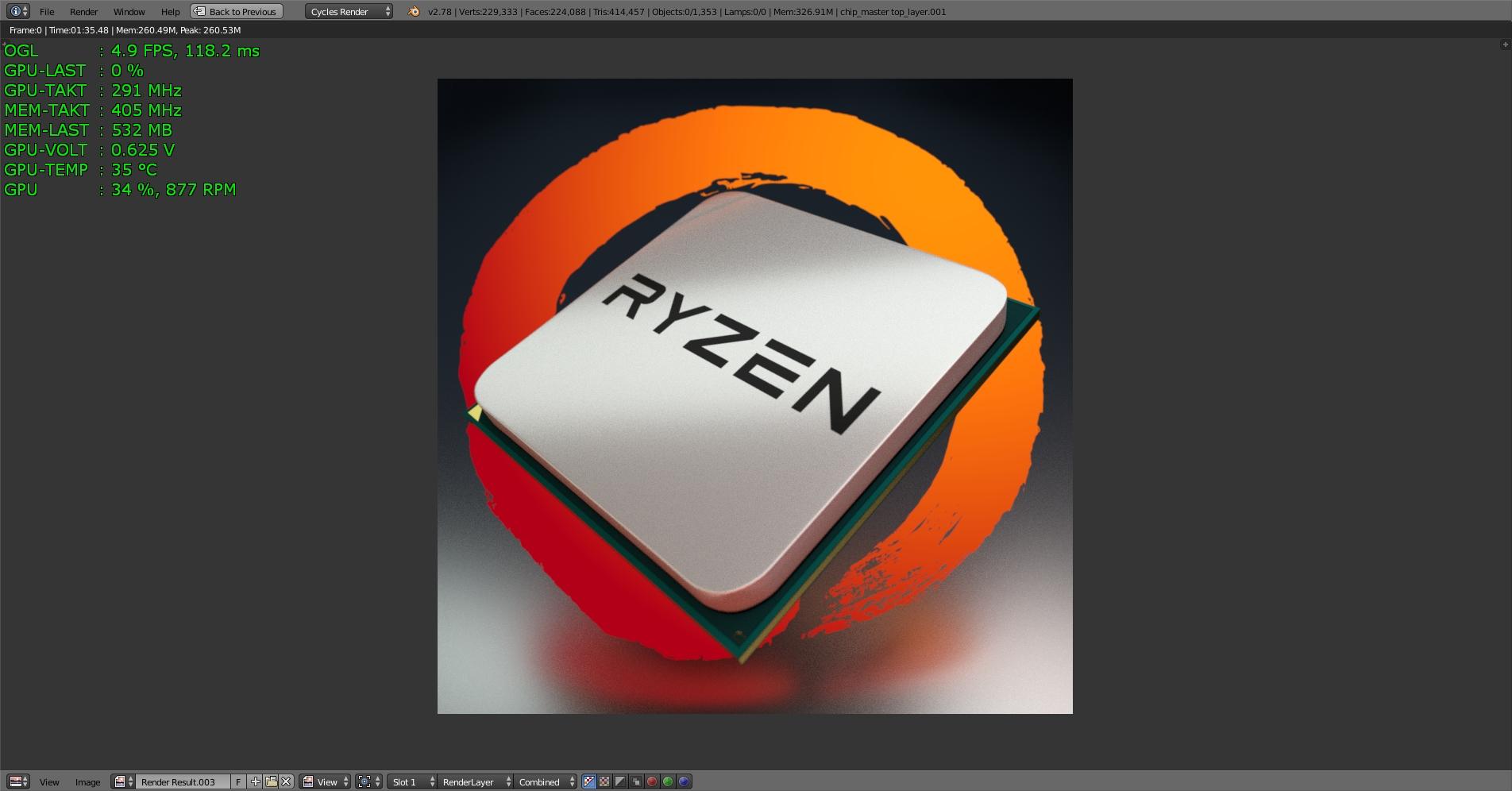 Klicke auf die Grafik für eine größere Ansicht  Name:Blender 2.78a Test-RYZEN 200 Samples mit MSI GTX 1070 -2-.jpg Hits:120 Größe:522,3 KB ID:596527