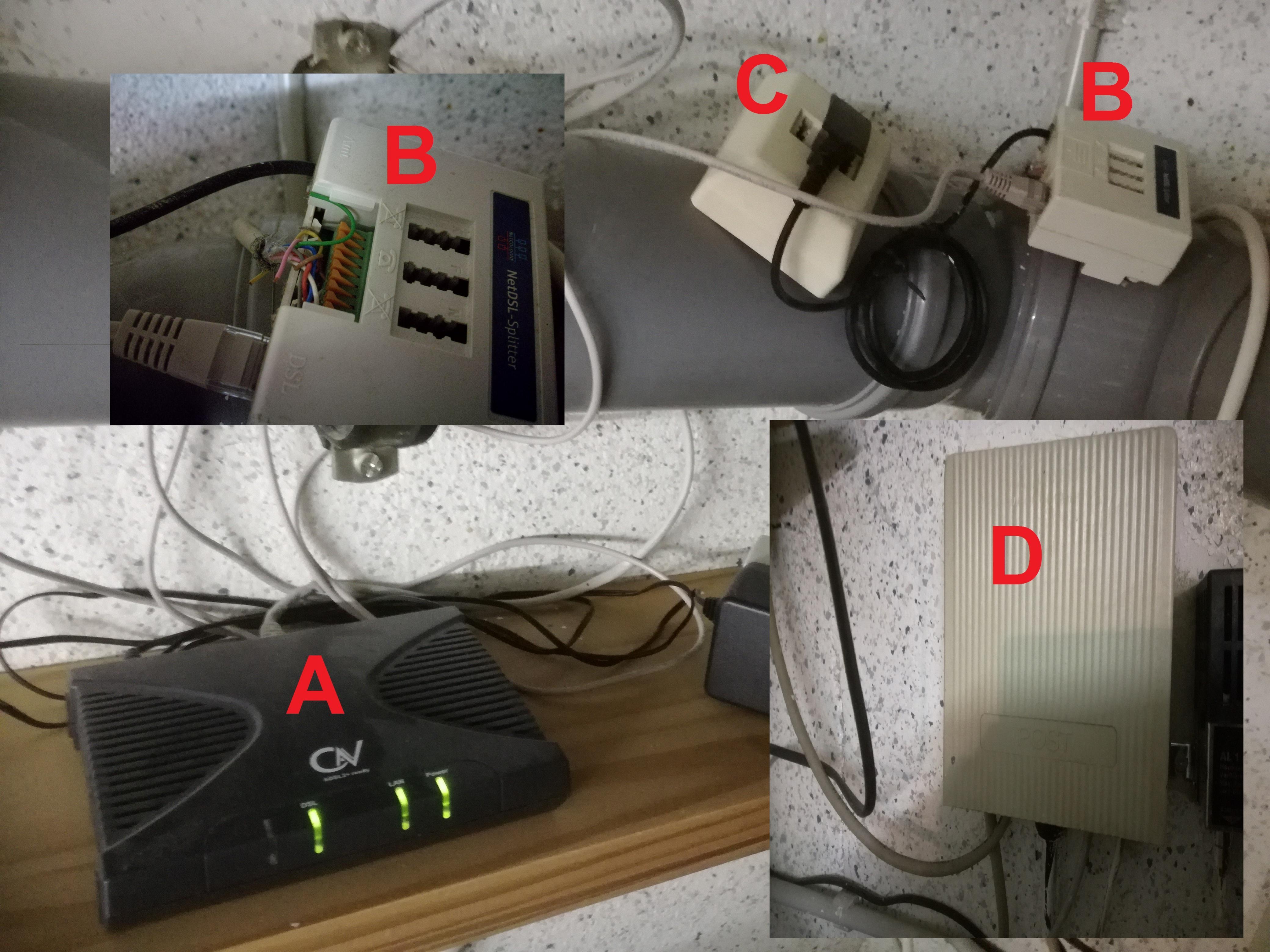 Umstellung auf VDSL, Anschluss der Fritzbox, Verkabelung ...