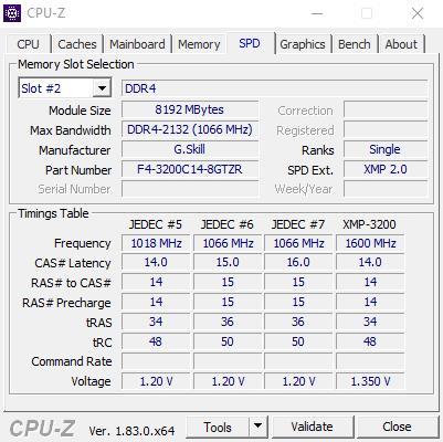 Klicke auf die Grafik für eine größere Ansicht  Name:CPUZ SPD Slot2.jpg Hits:5 Größe:38,4 KB ID:670033