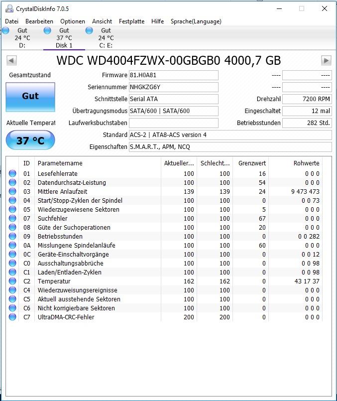 Klicke auf die Grafik für eine größere Ansicht  Name:Crystal Disk2.jpg Hits:27 Größe:189,3 KB ID:659423
