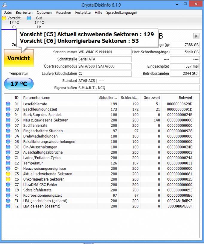Klicke auf die Grafik für eine größere Ansicht  Name:CrystalDiskInfo_Screen.jpg Hits:573 Größe:106,8 KB ID:403402