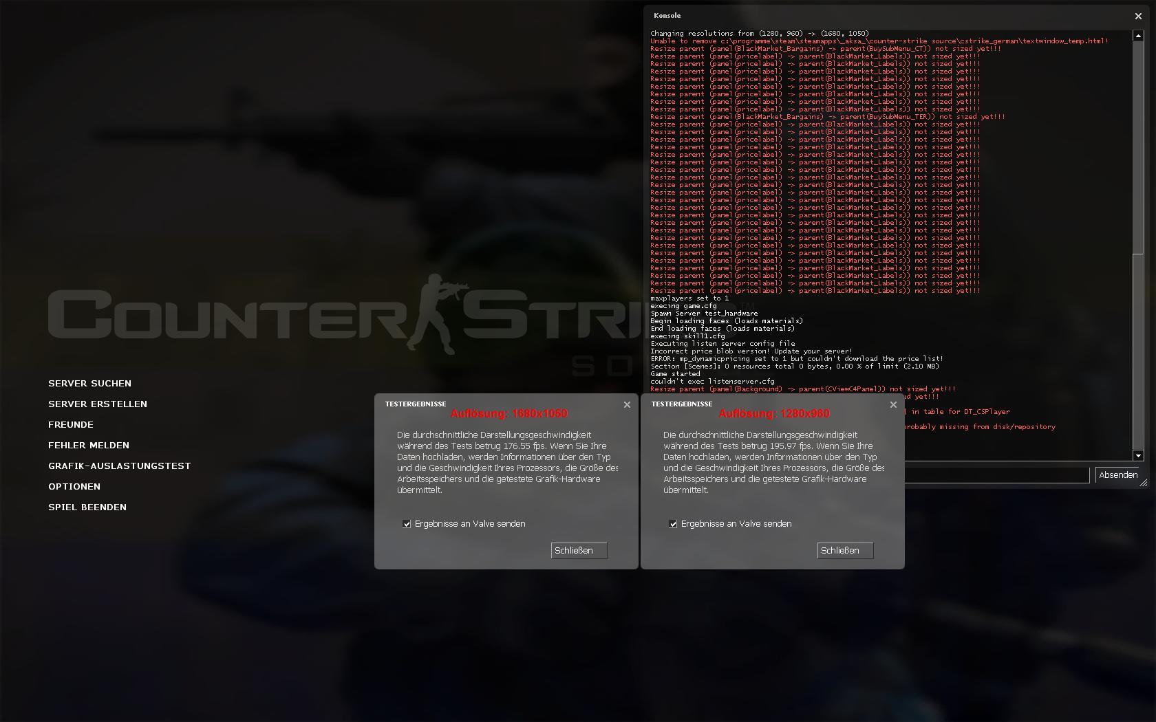 FPS immer konstant - egal welche Auflösung oder Detailstufe ...