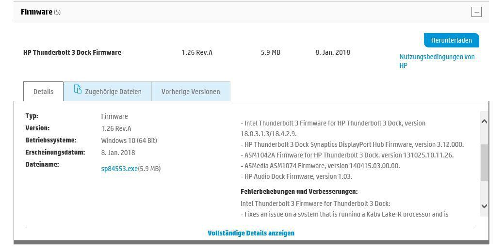 Frage zu HP Elite Thunderbolt 3 Dock 90W | ComputerBase Forum