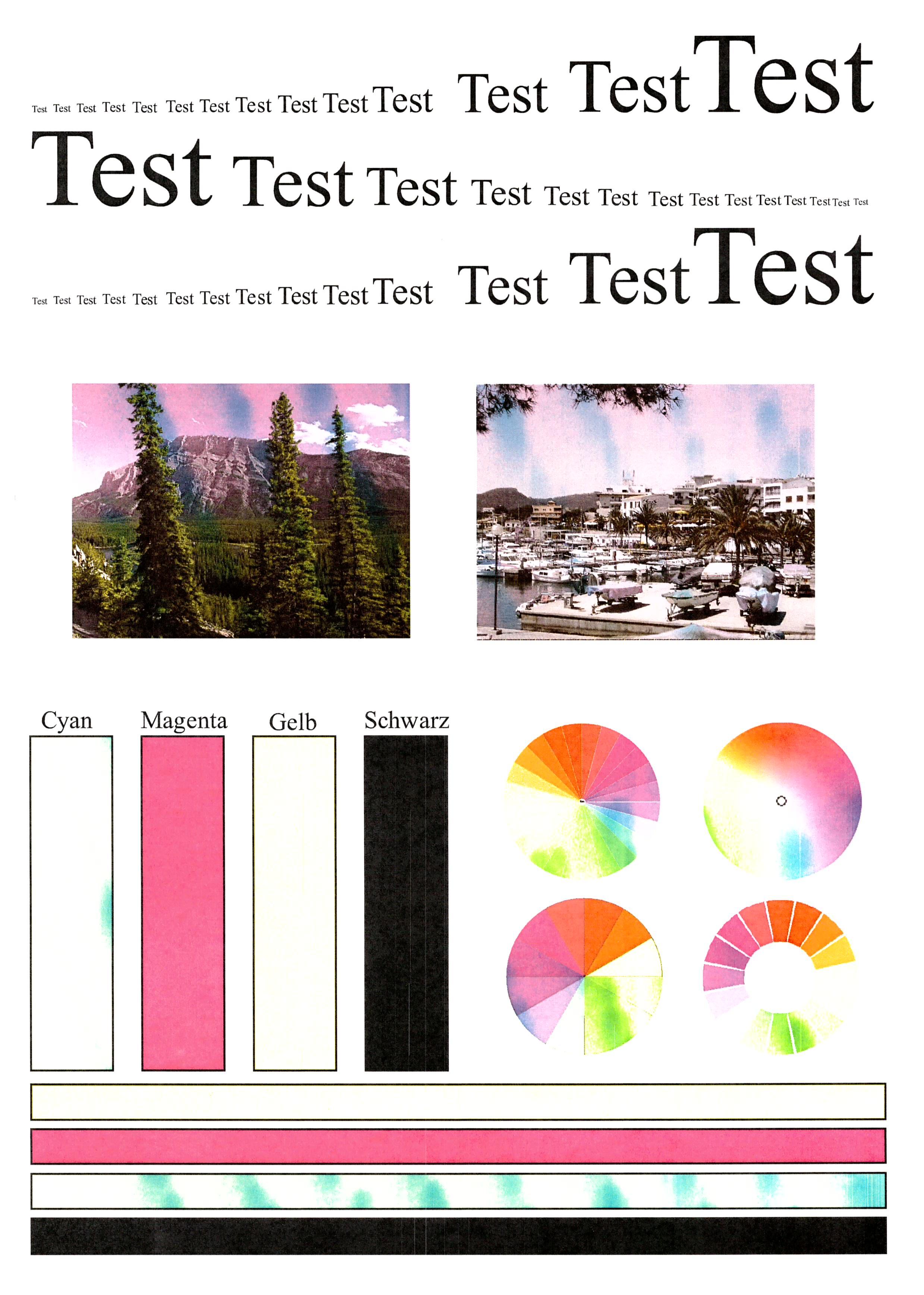 Schön Probe Drucker Testseite Farbe Ideen - Beispielzusammenfassung ...