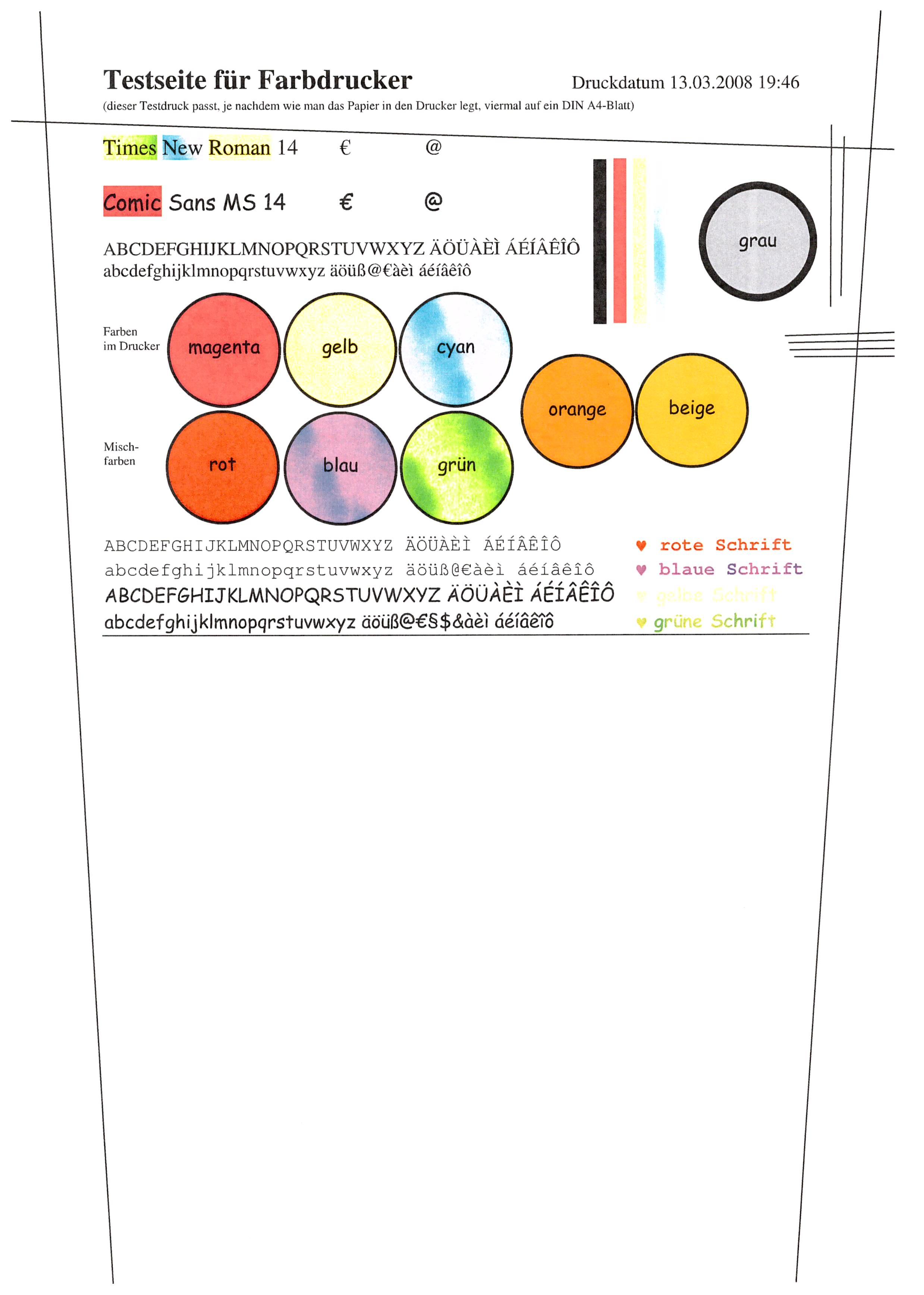 Beste Hp Drucker Testseite Farbe Ideen - Beispiel Business ...