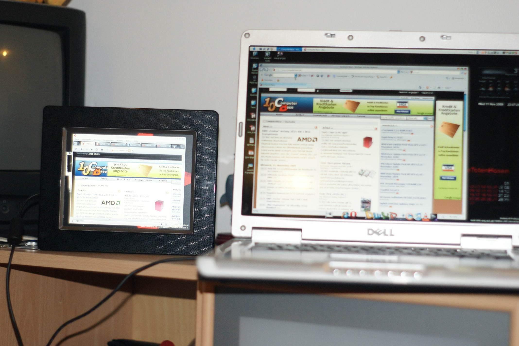 Digitaler Bilderrahmen als PC-Monitor | ComputerBase Forum