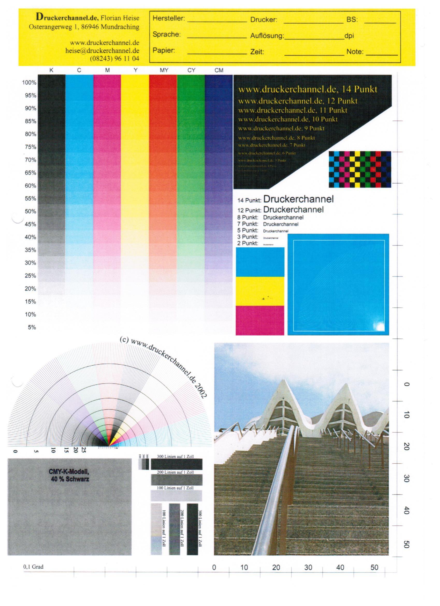 Tolle Drucker Testseite Farbe Fotos - Beispielzusammenfassung Ideen ...