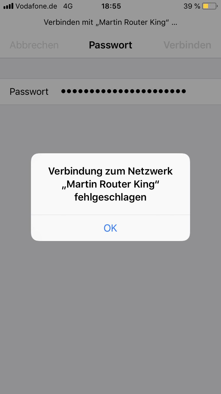 iPhone 20 verbindet nicht mit FritzBox 20430 bzw. dauernd WLAN ...