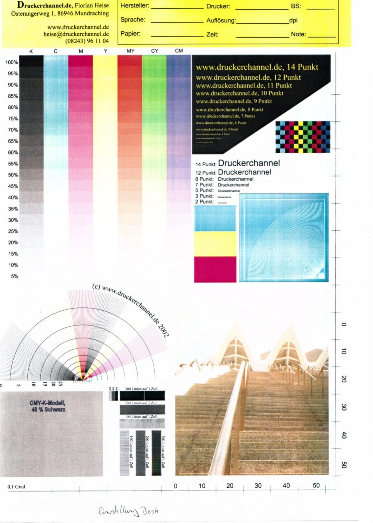 Großzügig Farbtestseite Für Drucker Galerie - Entry Level Resume ...