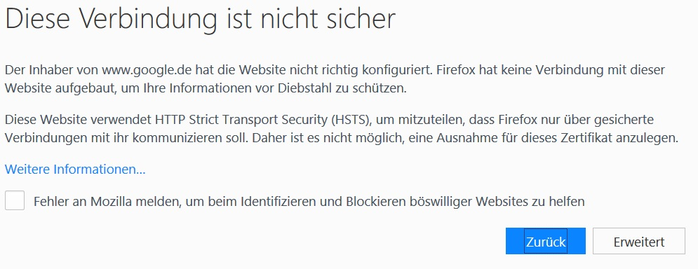 Klicke auf die Grafik für eine größere Ansicht  Name:Firefox seite vertraut Meldung2.jpg Hits:72 Größe:97,9 KB ID:646482