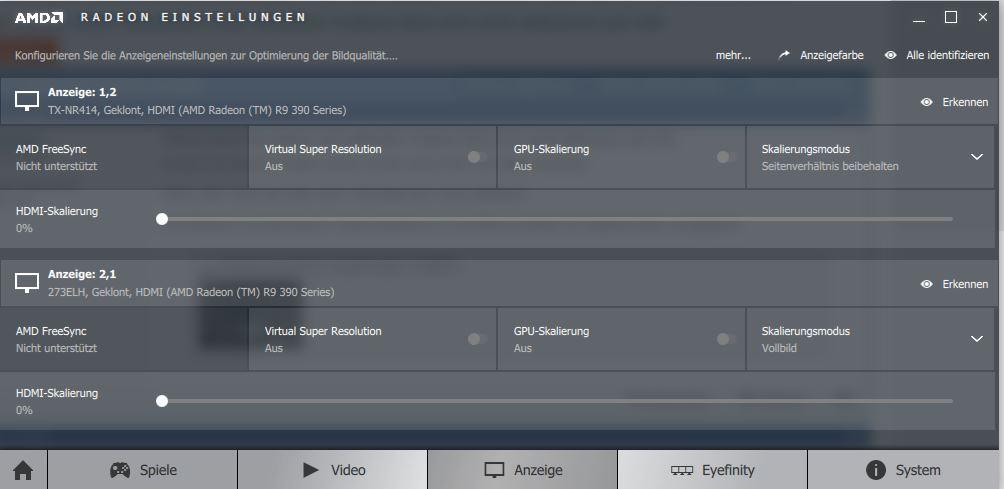 Virtual Super Resolution (mit aktuellen Treiber) lässt sich