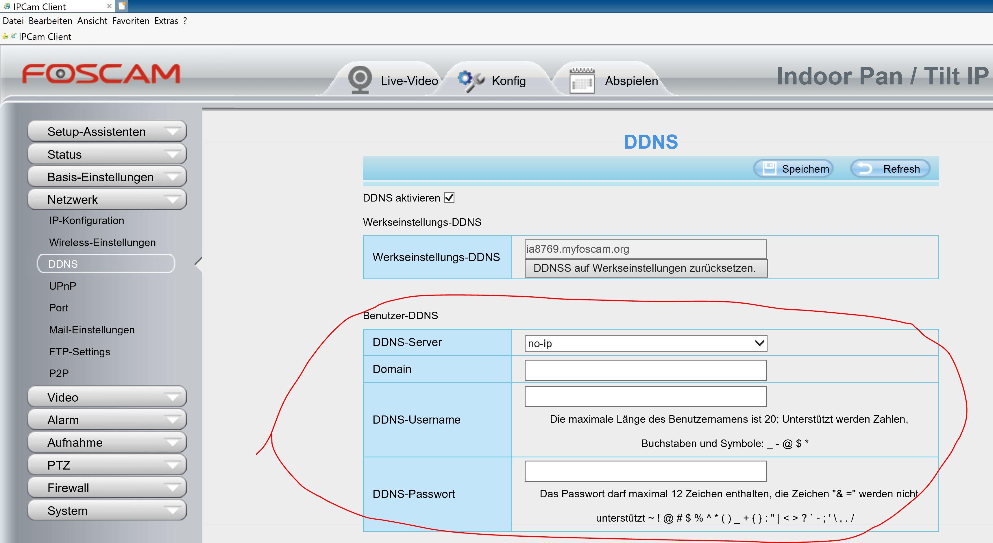 Foscam Web GUI - DYNDNS Eintrag DroDown Menue no-ip.JPG