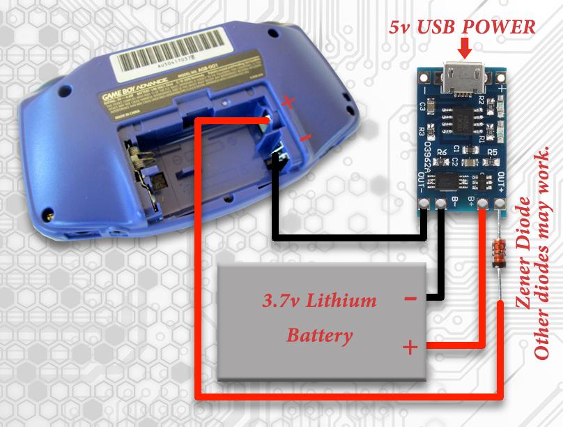 GameBoy advance Modding - Lithium ionen Akku | ComputerBase ... on