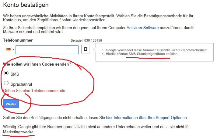 Google konto handynummer interhesu: ohne Ohne Nummer