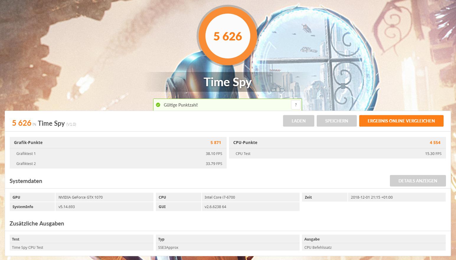 GTX 1070 - i7 6700 - 16 GB DDR4 - 29 Zoll 2560 x 1080(win 10 neu aufgesetzt).PNG