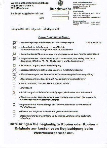 Handschriftlichen Lebenslauf Für Die Bundeswehr. - Computerbase Forum
