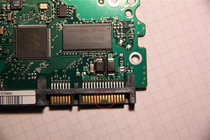 Festplatte durch Kurzschluss gebraten - PCB-Tausch? Brauche ...