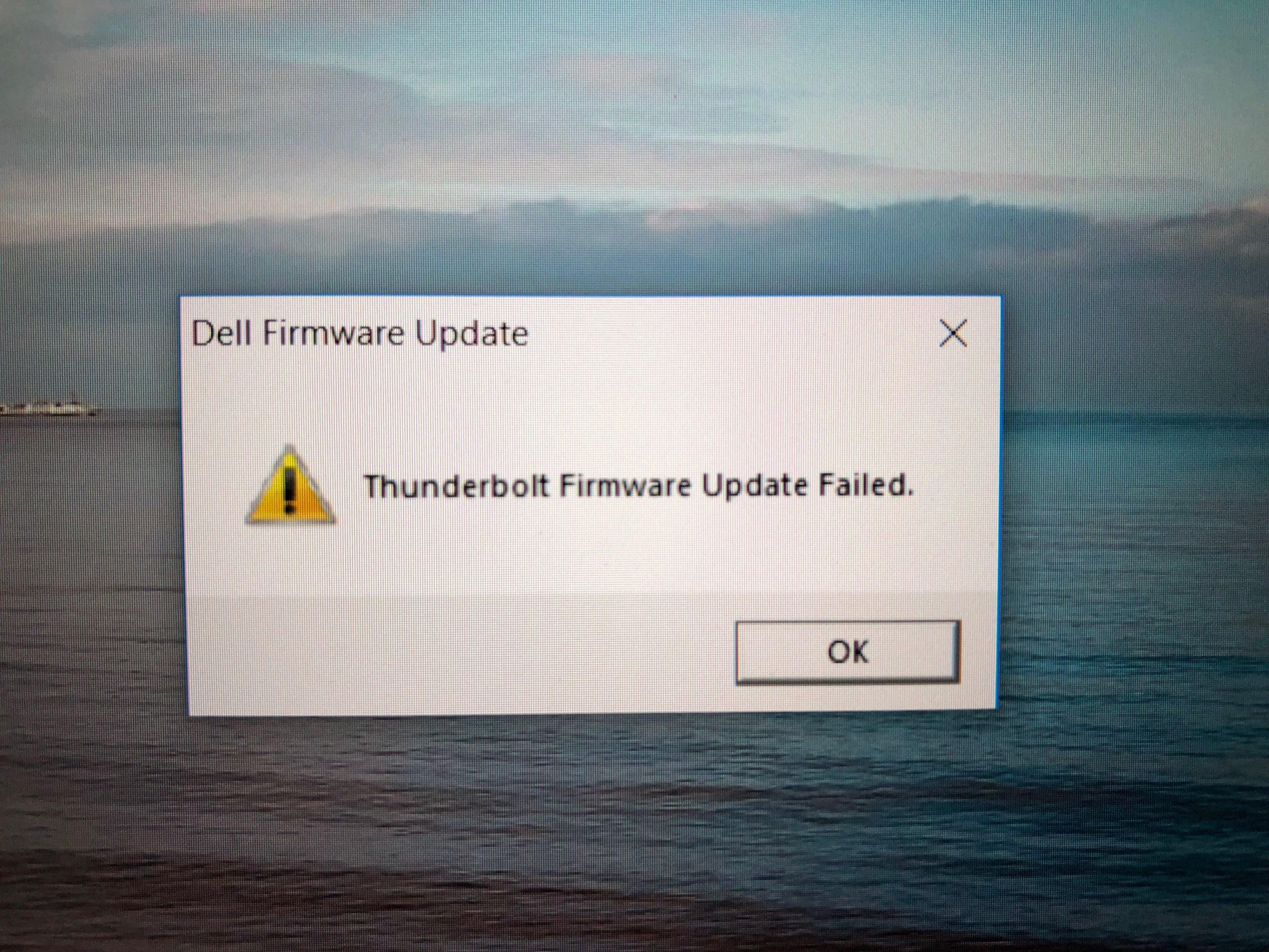 Dell XPS 13 (9360) Firmware Update Thunderbolt 3 - Fehler