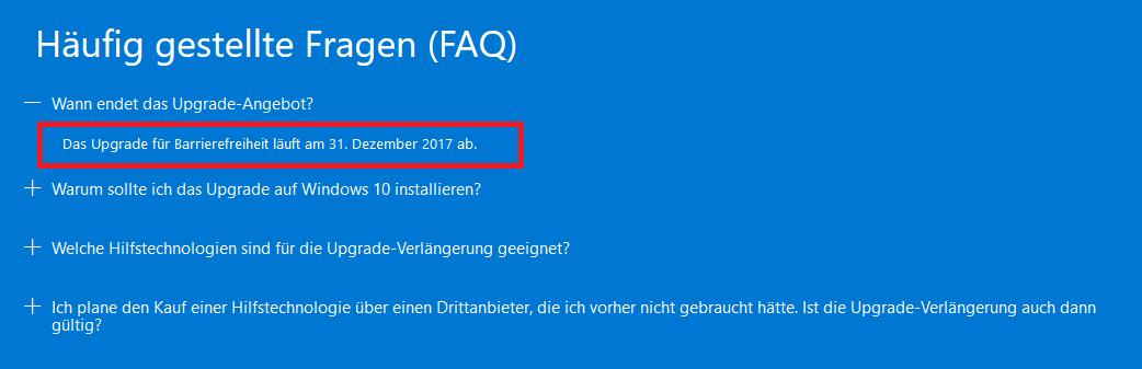 Klicke auf die Grafik für eine größere Ansicht  Name:Kostenloses Upgrade auf Windows 10 für Benutzer, die Hilfstechnologie nutzen.png Hits:70 Größe:23,6 KB ID:659197