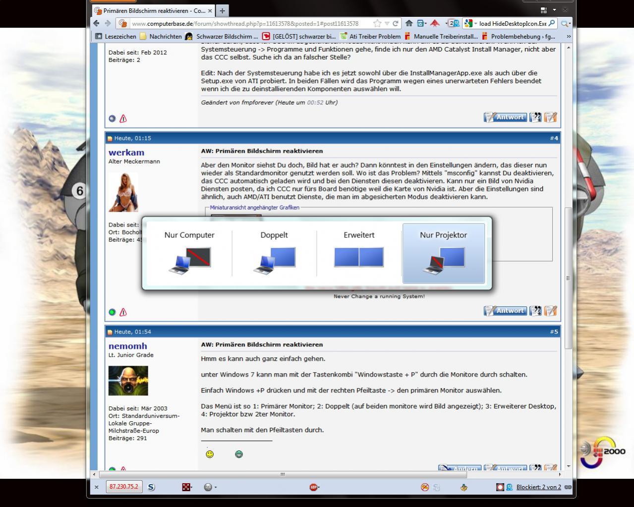 Primären Bildschirm reaktivieren  ComputerBase Forum