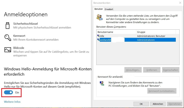 Windows 10 automatische anmeldung deaktivieren