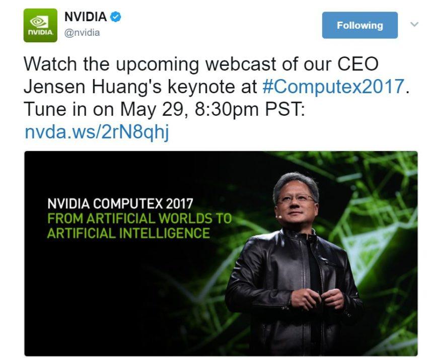 Klicke auf die Grafik für eine größere Ansicht  Name:NVIDIA-CEO-Computex-2017-Keynote-850x715.jpg Hits:44 Größe:72,5 KB ID:625599