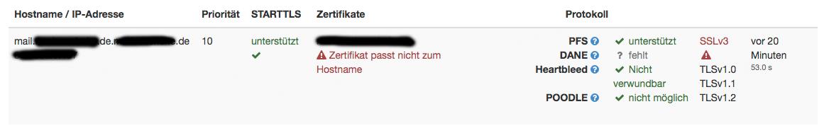 Apache Webserver - Zertifikat ungültig (Hostname stimmt nicht ...