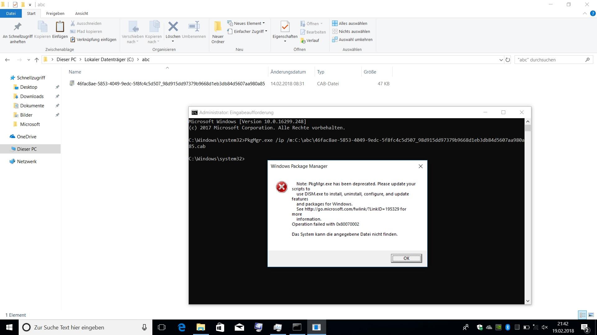 Wie cab Update Dateien installieren | ComputerBase Forum