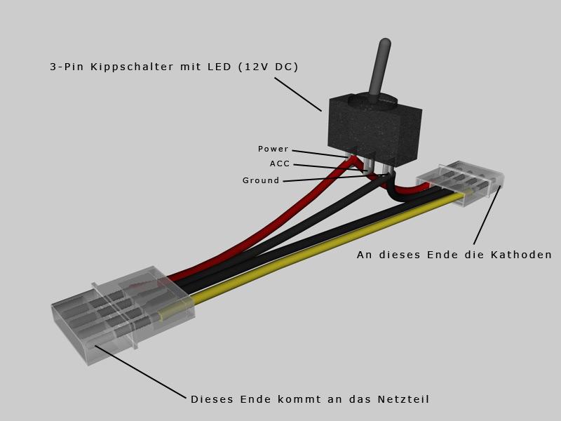 Kippschalter mit LED zwischen Stromkabel - ComputerBase Forum