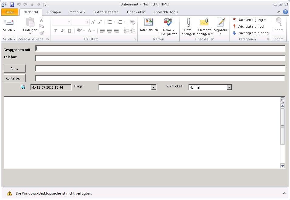 Outlook 2010 - Formular in die Schnellstartleiste kriegen ...