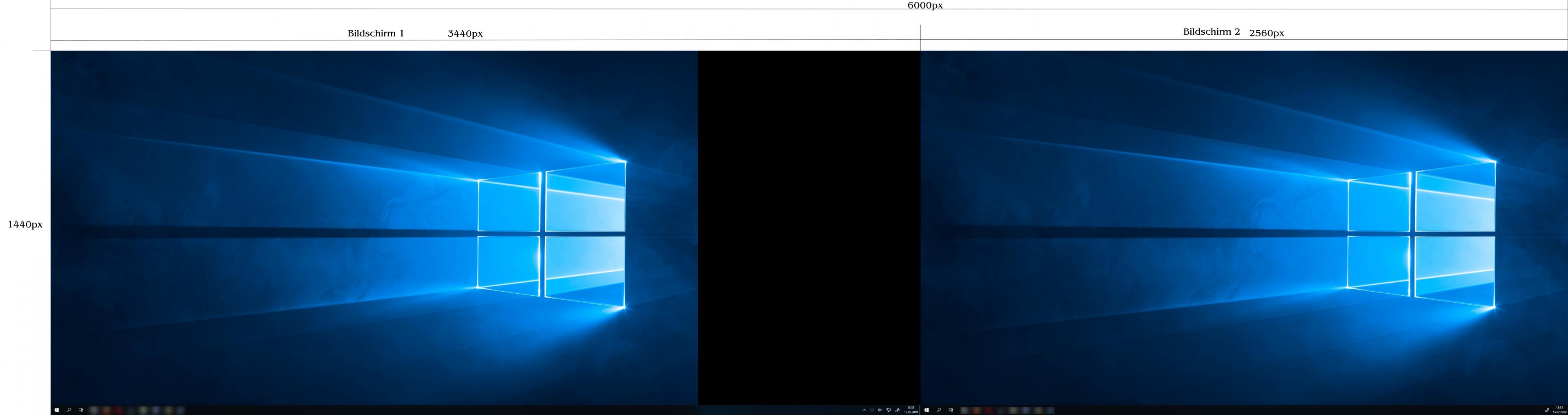 2 bildschirme windows 7 verschiedene hintergründe