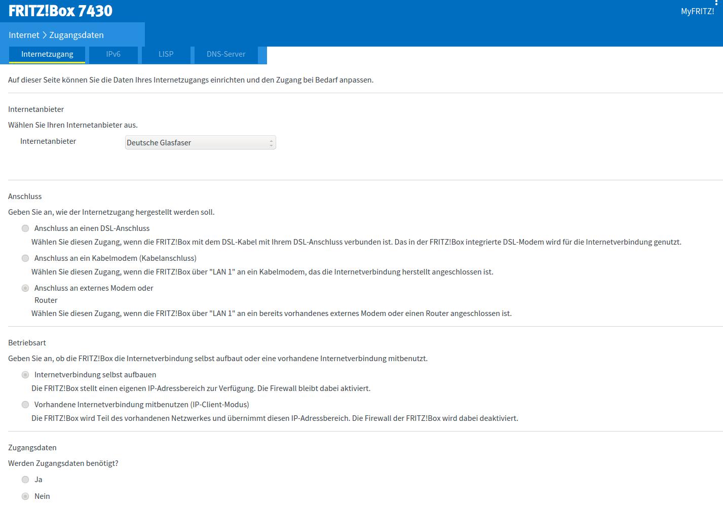 Fritzbox 10 an Glasfaseranschluss (DG) nutzen  ComputerBase Forum