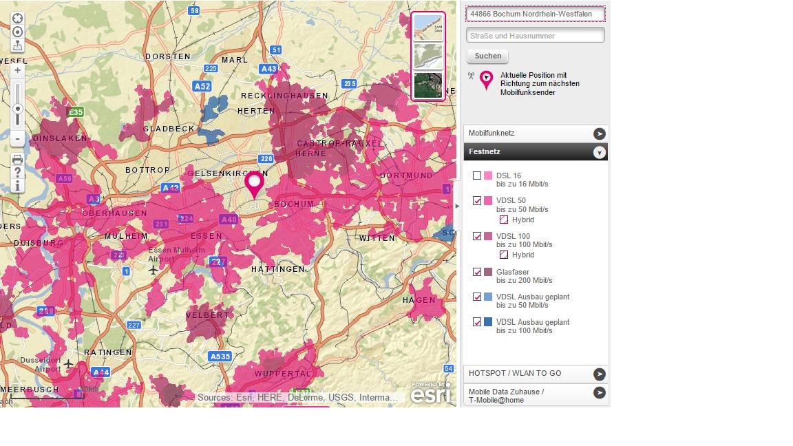 vdsl ausbau karte VDSL Ausbau im nördlichen und zentralen Ruhrgebiet | ComputerBase