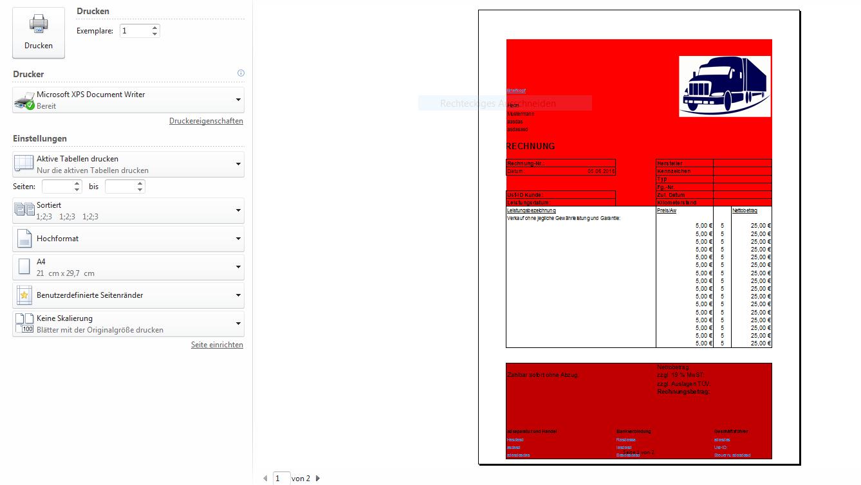Rechnung Excel Tabelle über Zwei Seiten Automatisch Computerbase Forum