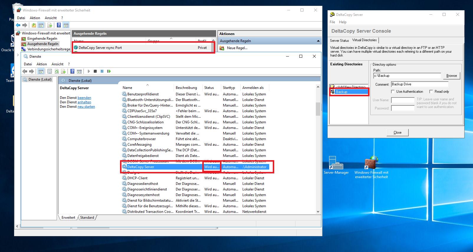 Synology Backup -> Windows Server via rsync / DeltaCopy