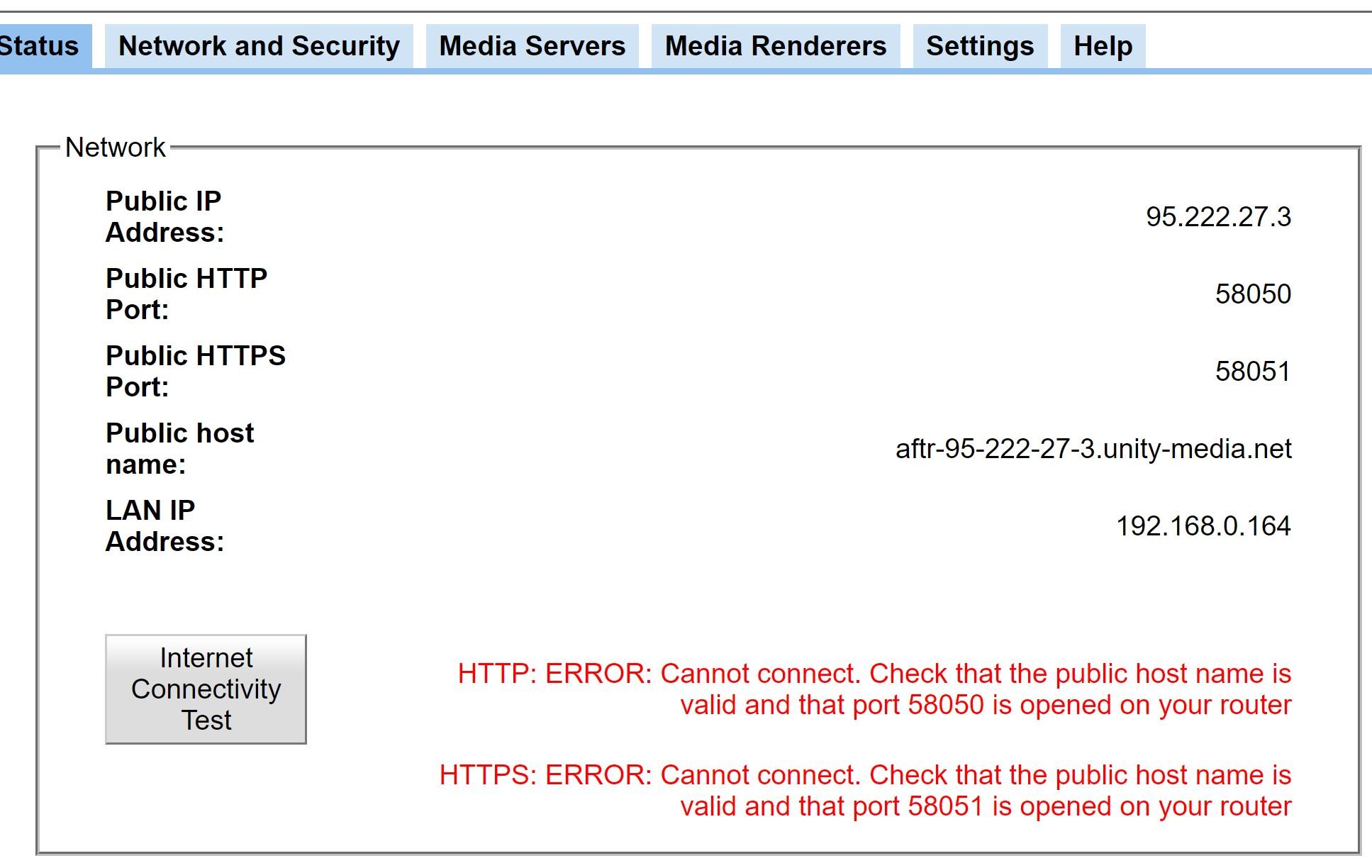 Bubble UPNP Server Http Https error Status | ComputerBase Forum